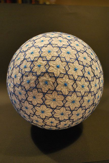Temari, is a Japanese thread ball, which is a symbol of perfection. / Sacred Geometry <3