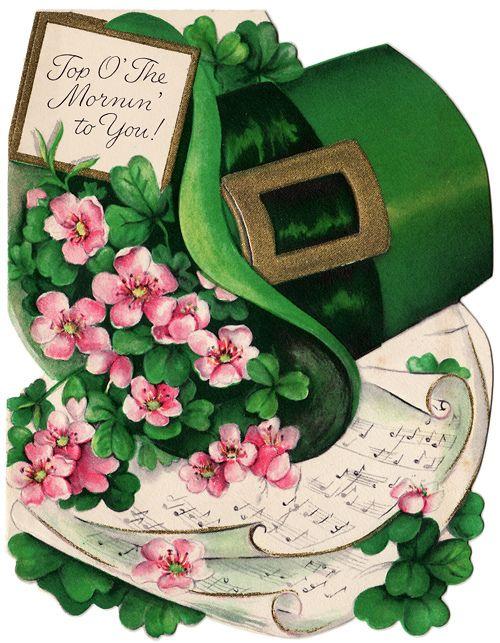 Tarjeta vintage del día de San Patrício  -  Vintage St. Patrick's Day Card |