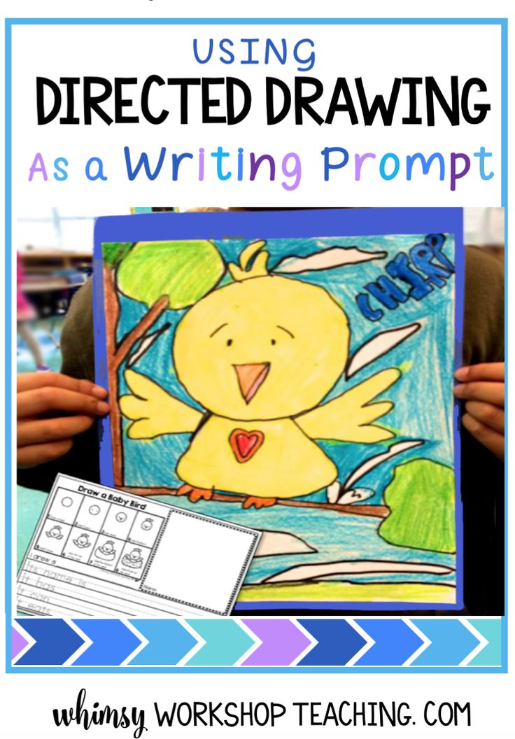 Use directed drawing as a writing prompt with literacy templates that are built right into the drawing lesson for every school holiday and season (free sample sets)