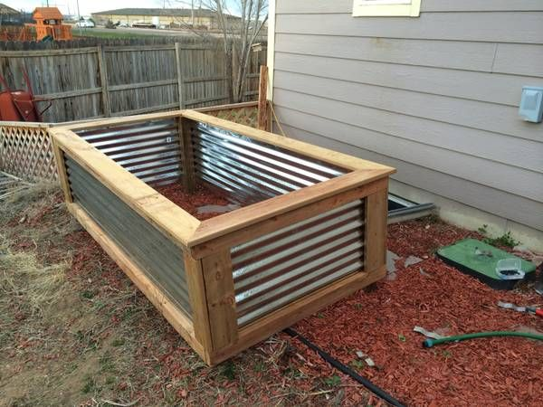 8 best images about corrugated metal garden beds on pinterest for Corrugated metal raised garden beds