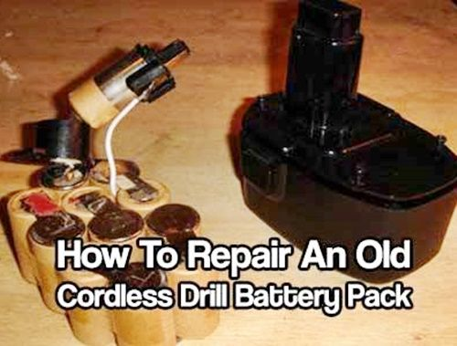 How To Repair An Old Beat Up Cordless Drill Battery Pack,DIY,how to,repair,frugal,drill,battery,shtf,prepping,self sufficient,