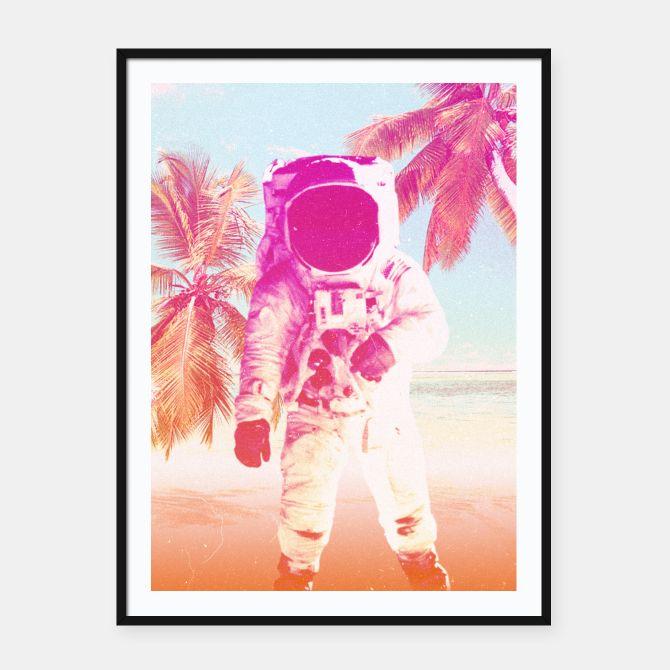 Beach Man Framed poster, Live Heroes