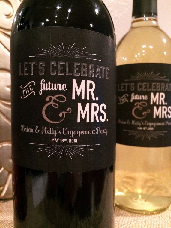 Engagement Party Labels Congratulations to by GardeniaLabels