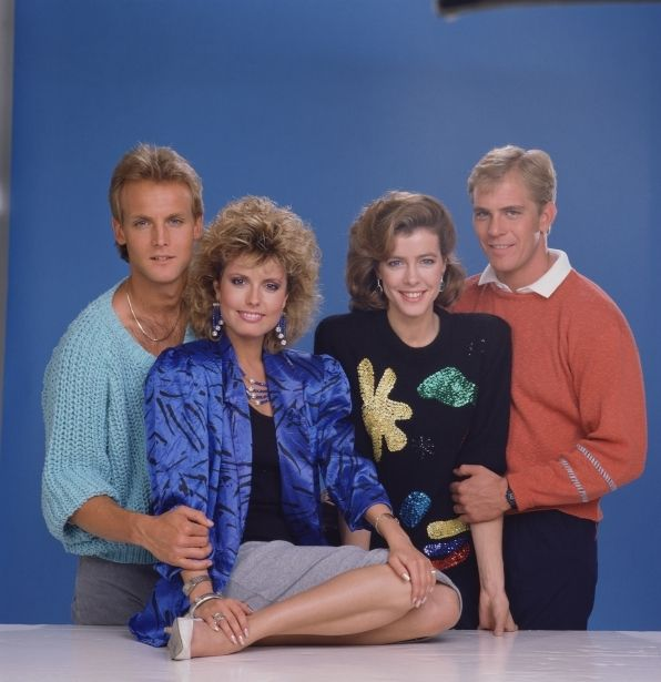 Y & R (1983-1993)  Paul and Lauren Paul (Doug Davidson) and Lauren (Tracey Bregman) were married in 1984. Here they pose with Andy (Steven Ford, son of President Gerald Ford and Betty Ford) and Farren (Colleen Casey).