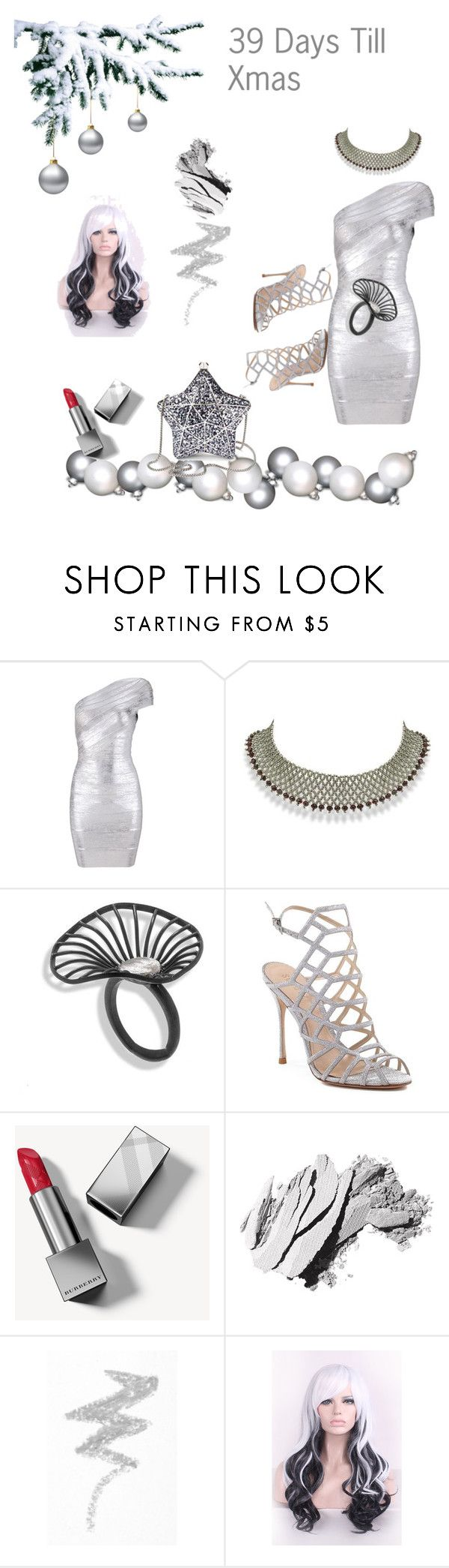 """""""39 days till xmas"""" by tonhr on Polyvore featuring Schutz, Burberry, Bobbi Brown Cosmetics and NYX"""