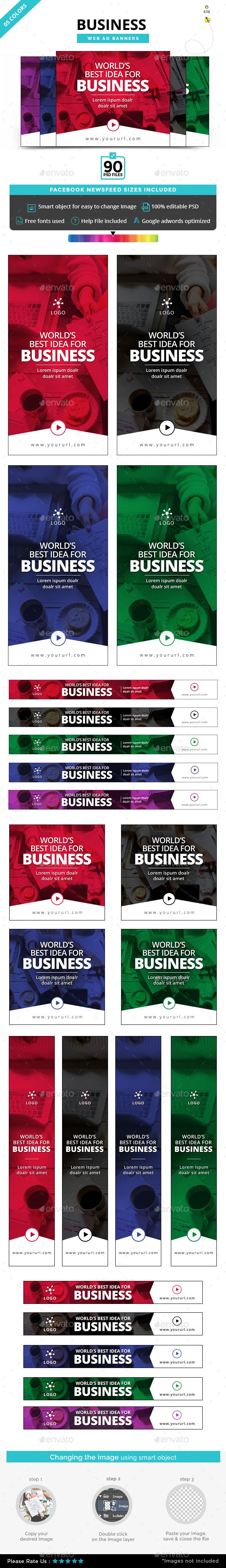 Business Banners - #Banners & Ads #Web Elements