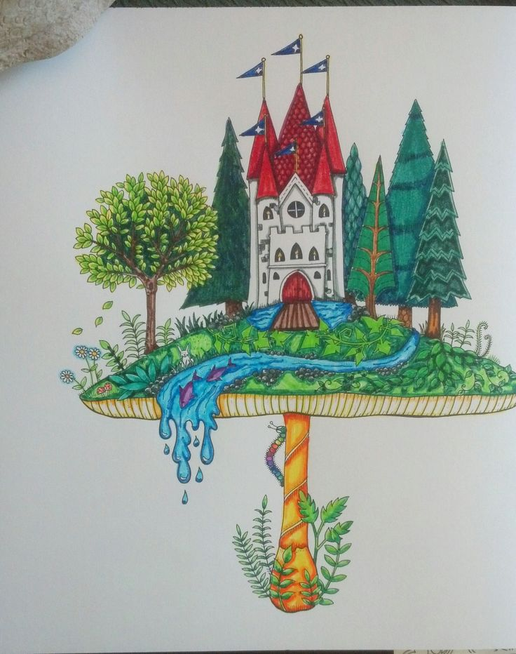 This One I Did Using Basic Crayola Markers It Is From Johanna Basfords Enchanted Forest Enjoy Coloring These While Listening To Audiobooks And Having A
