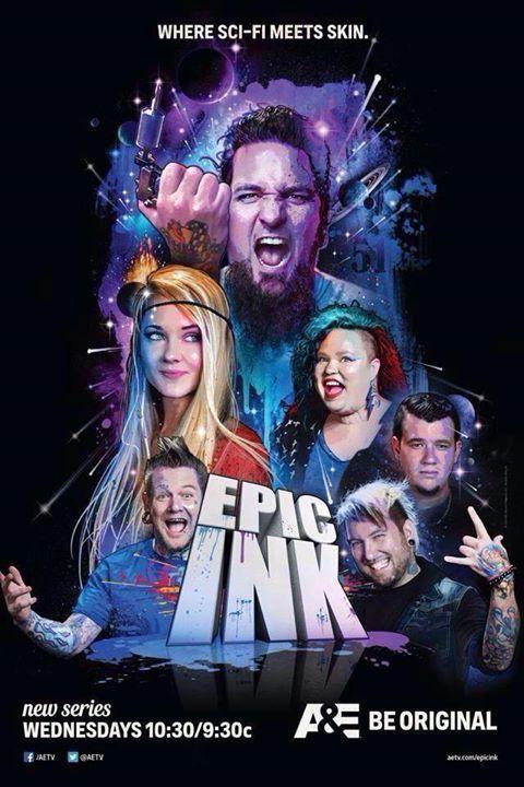 Epic Ink Tv Show on A&E. Tattoo Artists - Chris 51, Chris Jones, Heather Maranda, Josh Bodwell, Jeff Wortham & Receptionist - Caroline Russell
