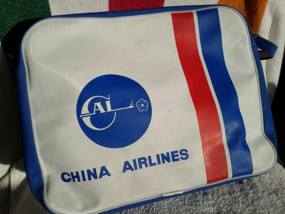 Vintage 60s China Taiwan Airlines Flight Bag by VignetteTours, $59.99