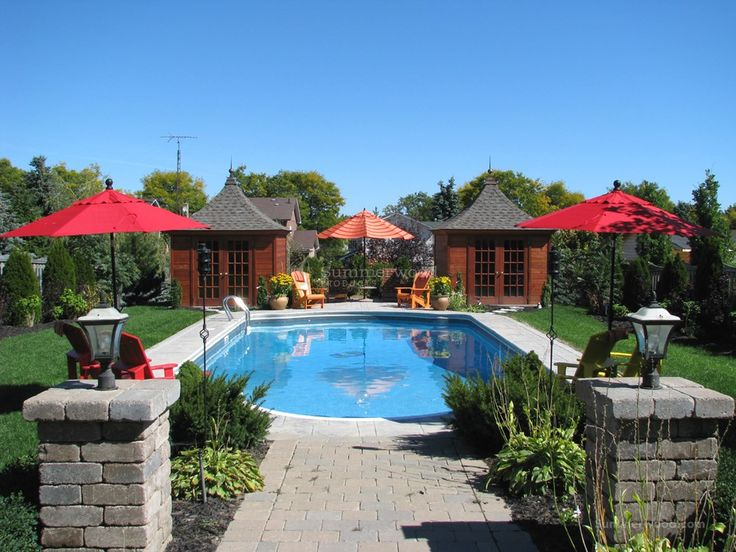 the melbourne pool cabanas in traverse city michigan - Garden Sheds Michigan