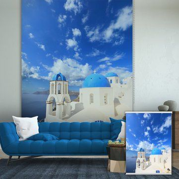 Pag Mediterranean Roller Shutters Print Painting Roller Blind Background Wall Decor Window Curtain^ * Learn more by visiting the image link.