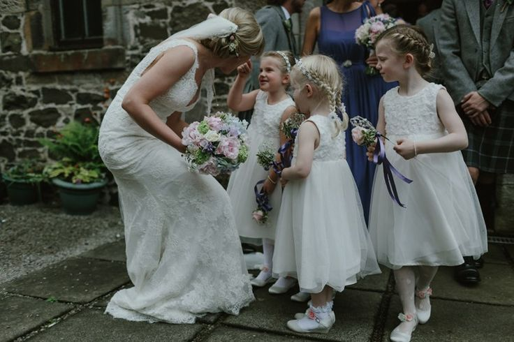 Flower Girls White Dresses Pastel Summer Marquee Country Estate Wedding http://www.rooftopmosaic.com/