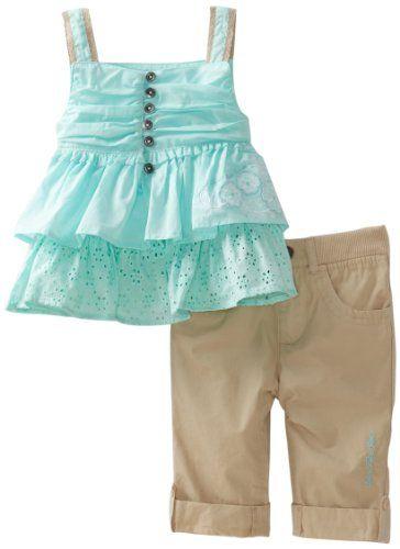 Calvin Klein Baby Girls' Ck Top and Khaki Pant, Green, 18 Months Calvin Klein http://www.amazon.com/dp/B007KJ253Y/ref=cm_sw_r_pi_dp_845Zvb04WK91Z