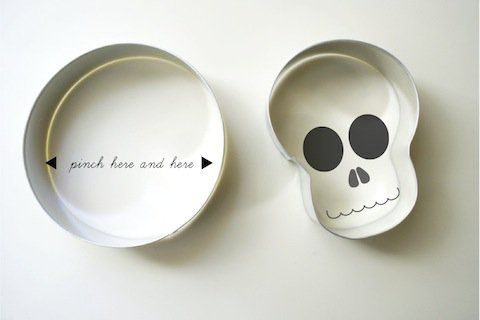 'DIY Skull Cookie Cutters...!' (via Make: DIY Projects and Ideas for Makers)