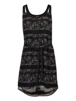 WP - GRID STRIPE SL SHORT DRESS #dress #veromoda @Veronica MODA