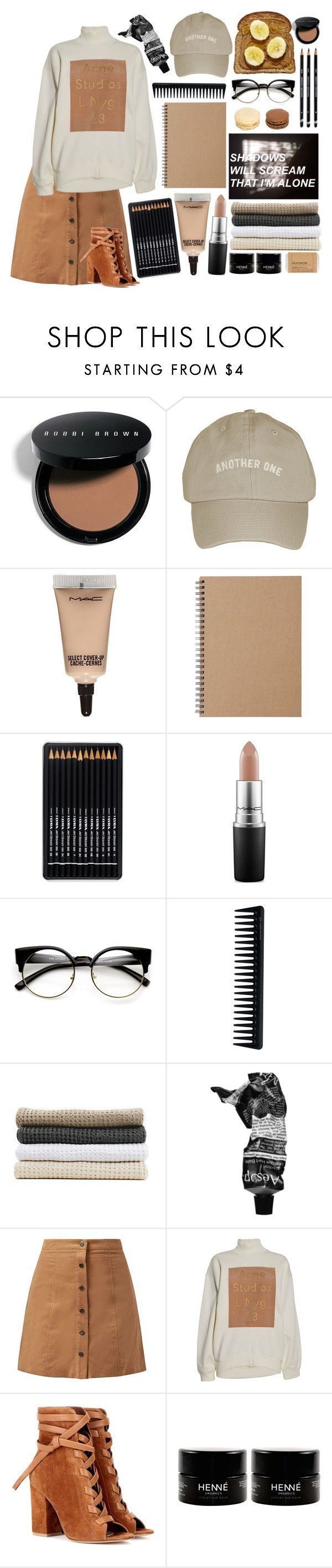 """"""":Shadows in the night:"""" by bullettpatch ❤ liked on Polyvore featuring Bobbi Brown Cosmetics, MAC Cosmetics, Muji, GHD, Abyss & Habidecor, Aesop, Acne Studios, Gianvito Rossi and Le Labo"""