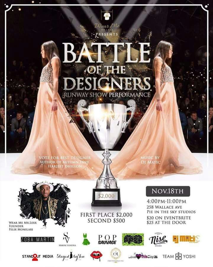 Come cheer us on for the win!  https://www.eventbrite.ca/e/battle-of-the-designers-runway-show-performance-tickets-39189754611?utm-medium=discovery&utm-campaign=social&utm-content=attendeeshare&aff=estw&utm-source=tw&utm-term=listing