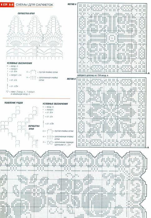 tiles filet | Filet Crochet Charts | Pinterest