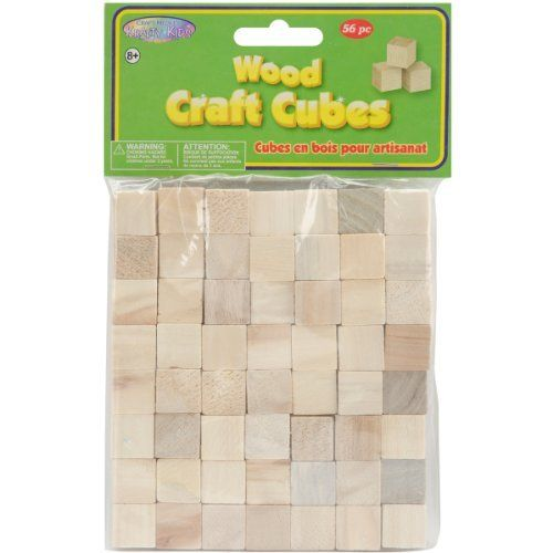 Craftwood 5/8-Inch Natural Wooden Cubes, 56-Pack by Multicraft Imports. $4.76. AMERICAN CLASSICS-Craft Medley Krafty Kids: Wood Craft Cubes. Let your creativity loose and turn these ordinary wooden cubes into something crafty! Use glue; paint; stickers; beads; paper; or just about anything you have on hand to embellish them and build something fantastic! This package contains fifty-six 5/8 inch cubes. WARNING-CHOKING HAZARD-Small parts. Not for children under 3 years. Recommen...