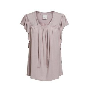ANASTASIA top w tie and garder, grey rose. Loose and feminine summer top with butterfly sleeves. Made of modal which is coloured by the eco-tex 100 standards.