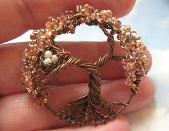 Mini Copper Fairy Sparkle tree of life woodland by Starsbcreations, $48.00