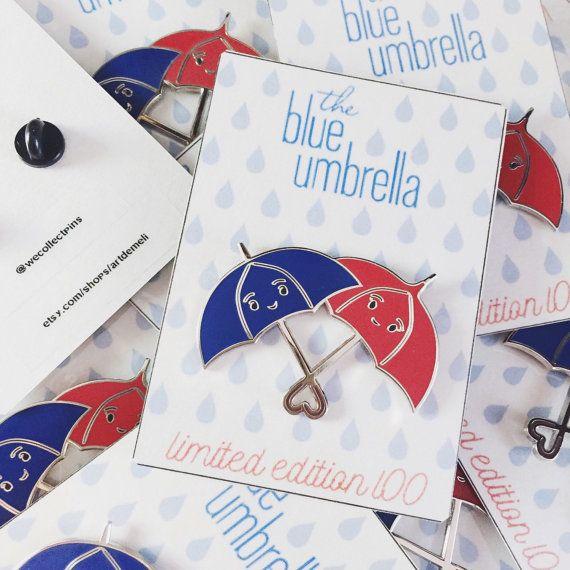 Fan-made Disney Pixar Pin - The Blue Umbrella