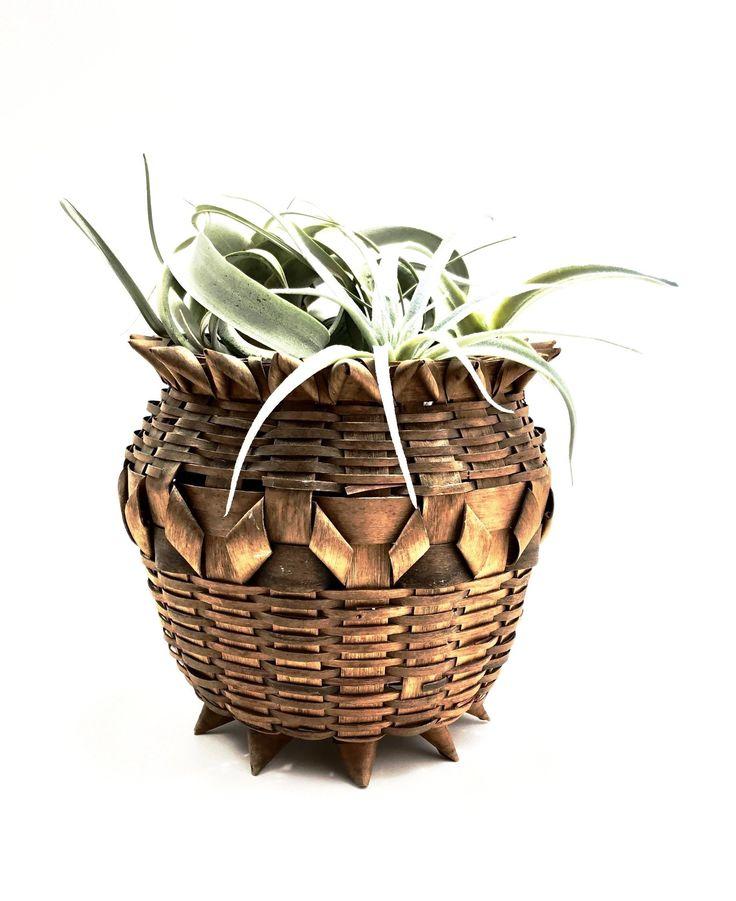 Vintage Wicker Planter Decor - Game of Throwns Basket