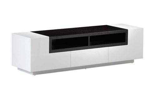 TV002 White Gloss Dark Oak TV Stand
