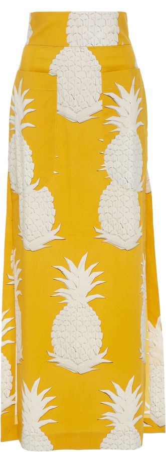 Yellow Pineapple Long Skirt