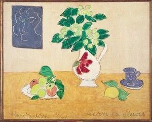 Henri Matisse, Assiette de fruits et lierre en fleurs dans un pot à la rose, 1941, Olio su tela, 72,4 x 92,7 cm, © Succesion H. Matisse by SIAE 2012
