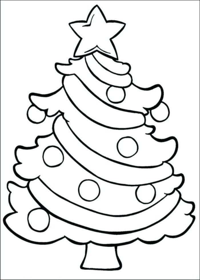 Arbol De Navidad Para Colorear
