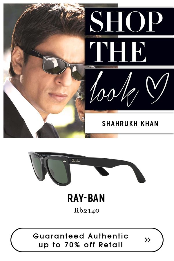 eb43308b6b Shah Rukh Khan wearing ray-ban-wayfarer-sunglasses-black ...