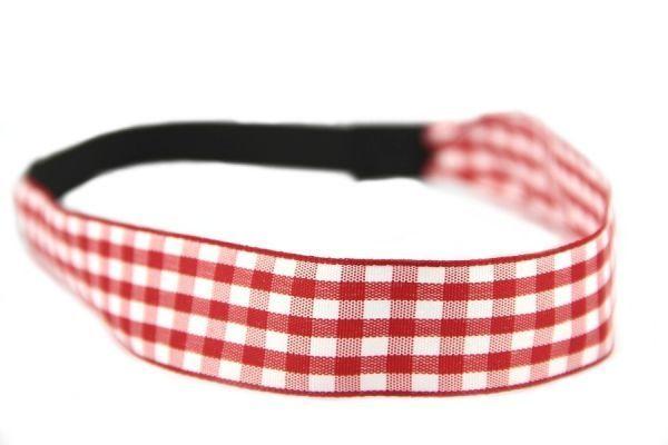 Bandeau cheveux rouge et blanc