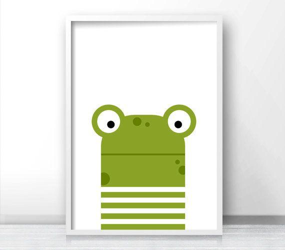 Nursery Print, Frog Nursery Decor, Nursery Art, Kids Wall Art, Instant Download Baby Nursery Art, Kids Art, Kids Room Decor, Animal Nursery