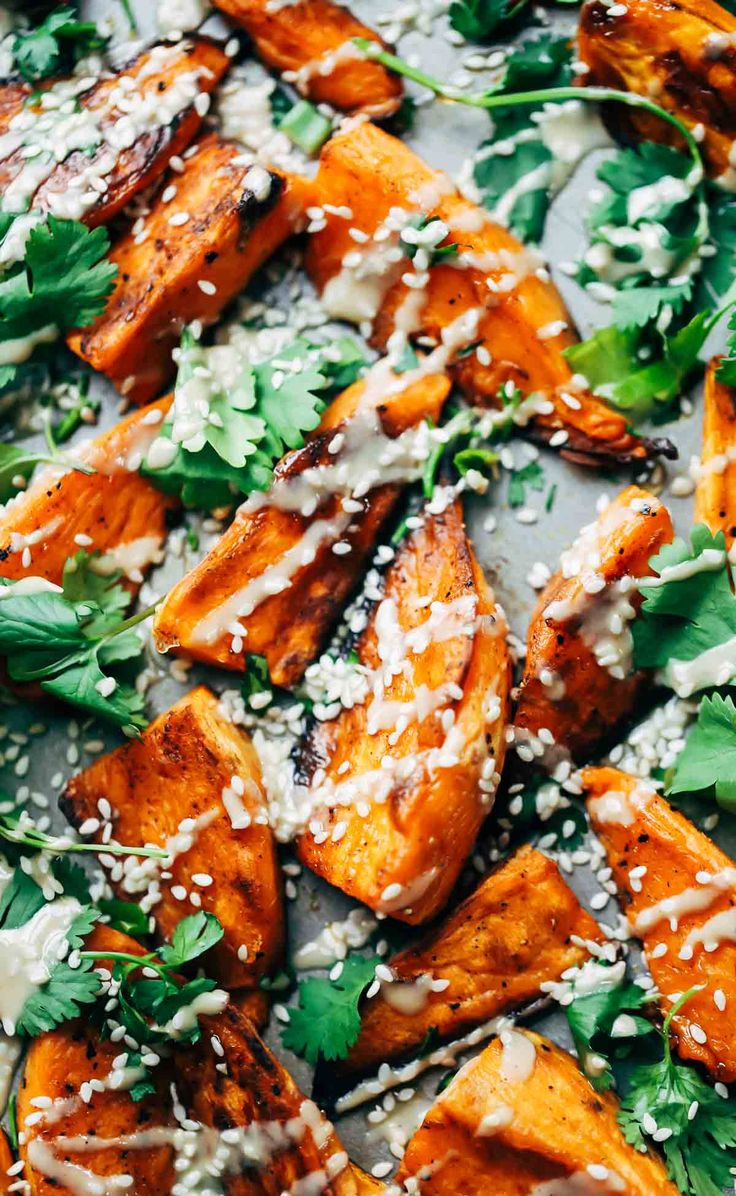 30-Minute Sesame Roasted Sweet Potatoes