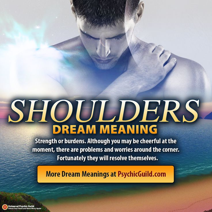 Best 85 dream interpretation meaning ideas on pinterest dream dreammeaning shoulders strength or burdens although you may be cheerful at malvernweather Images