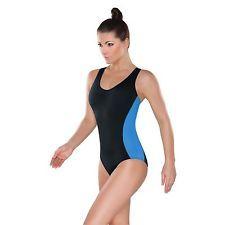 Damen Schwimmanzug mit Cups Sport Badeanzug Schwimmer Bademode