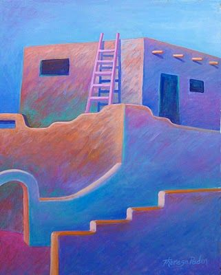 Colorful Southwestern Art of Santa Fe New Mexico by Theresa Padden