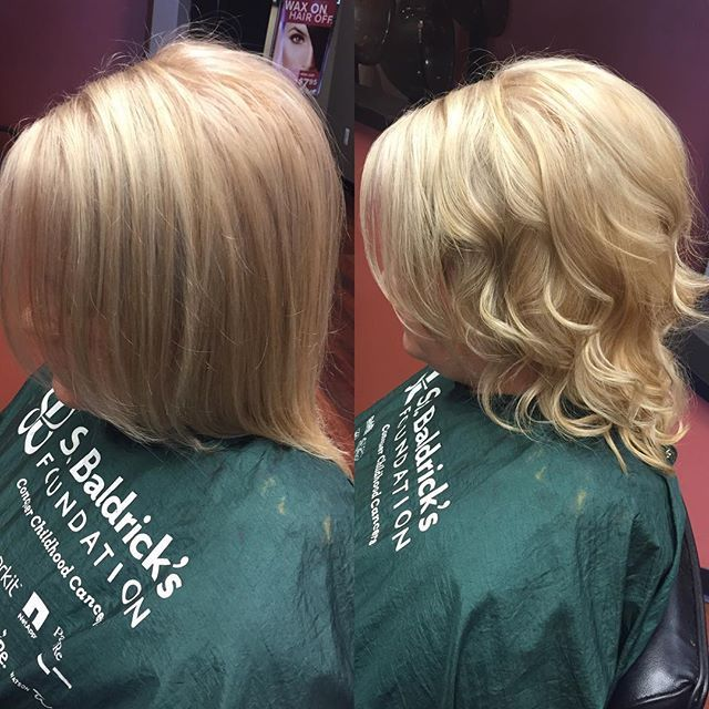 Top 100 blonde hair with lowlights photos She started with yellowy/orange hair, we did a root touch up, toner, lowlight and curl! Love it  #blonde #blondewithlowlights See more http://wumann.com/top-100-blonde-hair-with-lowlights-photos/