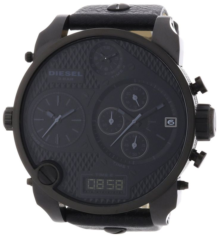 Diesel Herren-Armbanduhr XL Mr. Daddy Multi Movement Analog - Digital Quarz Leder DZ7193: Diesel: Amazon.de: Uhren