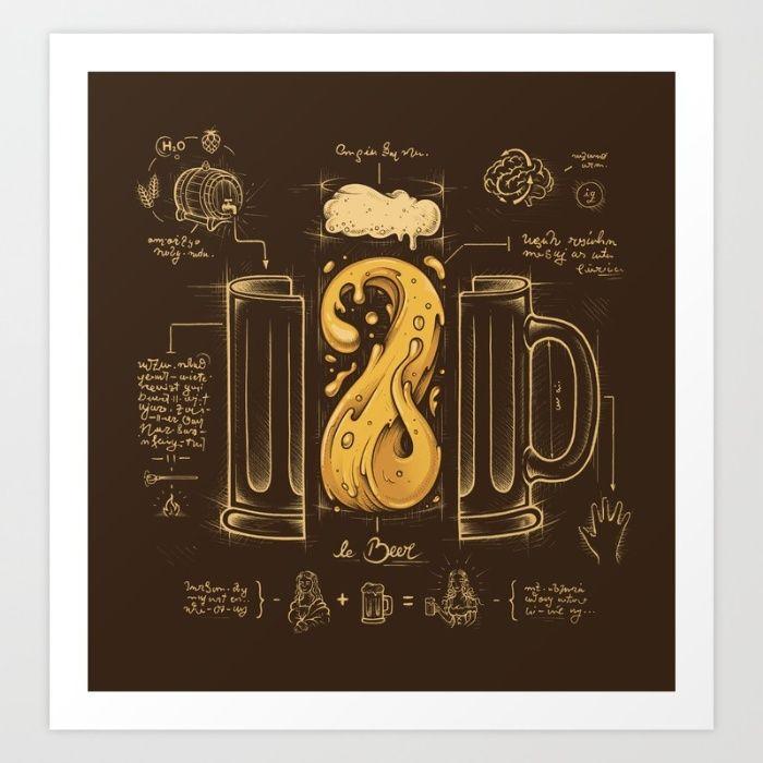 Le Beer (Elixir of Life) Art Print by Enkel Dika | Society6