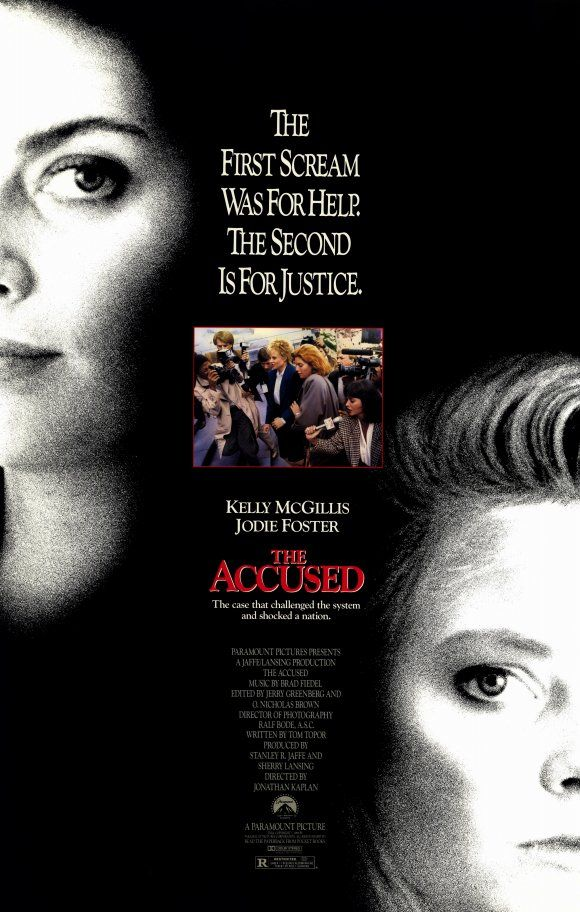 The Accused , starring Kelly McGillis, Jodie Foster, Bernie Coulson, Leo Rossi. After a young woman suffers a brutal rape in a bar one night, a prosecutor assists in bringing the perpetrators to justice, including the ones who encouraged and cheered on the attack. #Crime #Drama