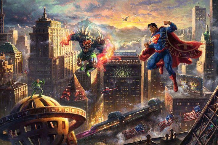 Superman - Man of Steel - Thomas Kinkade Studios - DC Comics - World-Wide-Art.com - #batman #dccomics
