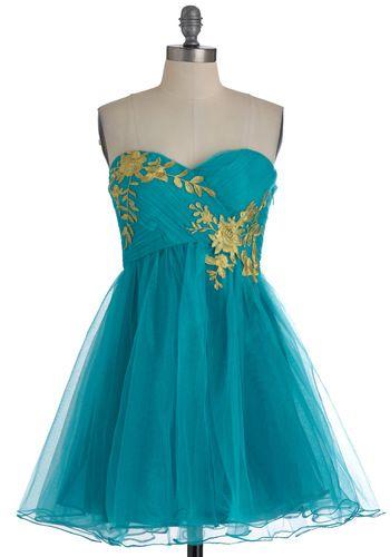 Garden Cotillion Dress in Teal  $89.99