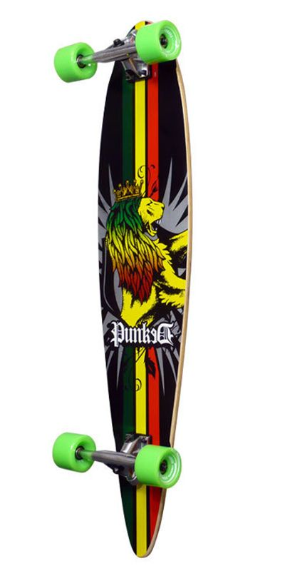 Longboards USA - Rasta Pintail Longboard from Punked - Complete, $96.99 (http://longboardsusa.com/longboards/beginners-longboards/rasta-pintail-longboard-from-punked-complete/)