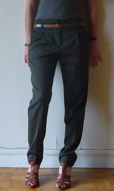 Le pantalon carot . Je cherche un tuto .....