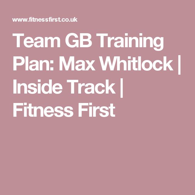 Team GB Training Plan: Max Whitlock | Inside Track | Fitness First