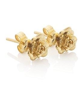 house tyrell gold rose earrings :)