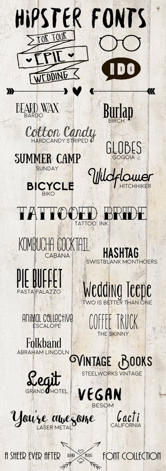 FREE Hipster wedding fonts