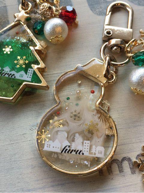 ネイルシール de クリスマスレジン